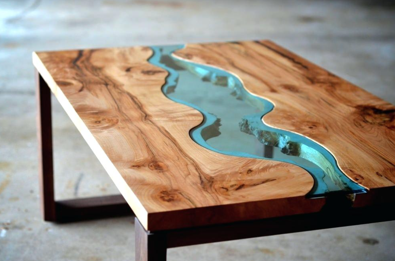 How To Make A Resin And Wood Coffee Table Step By Step Holztisch Aus Harz
